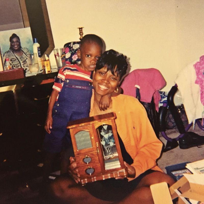 Chris as a preschooler with his young mom.