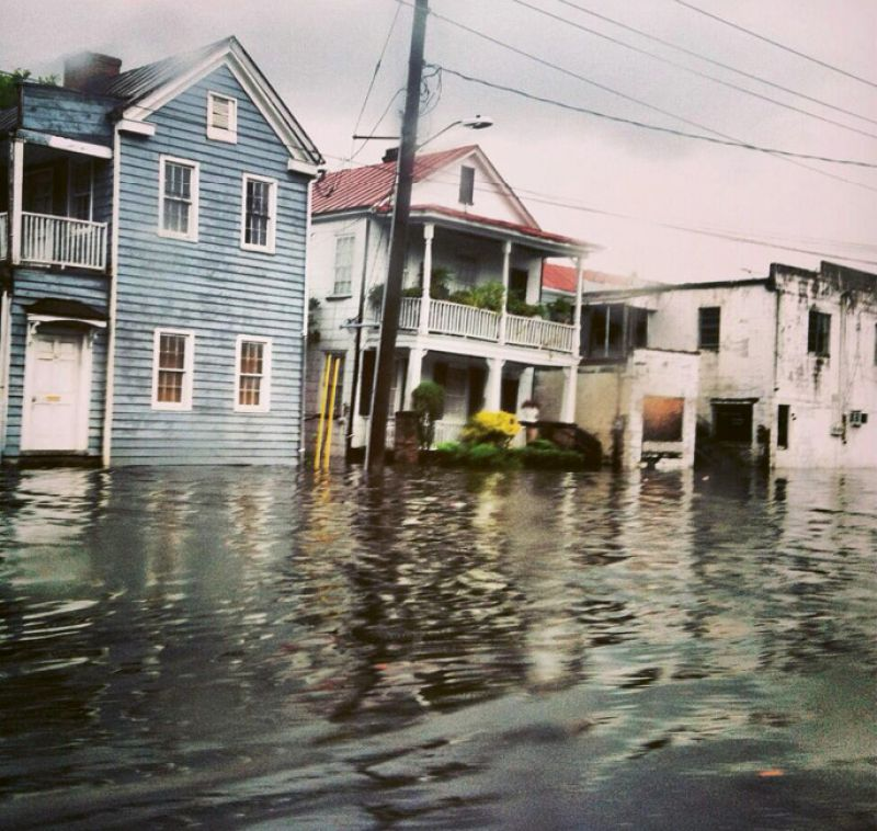 The aptly named Water and President streets often flood with storm water and king tides.