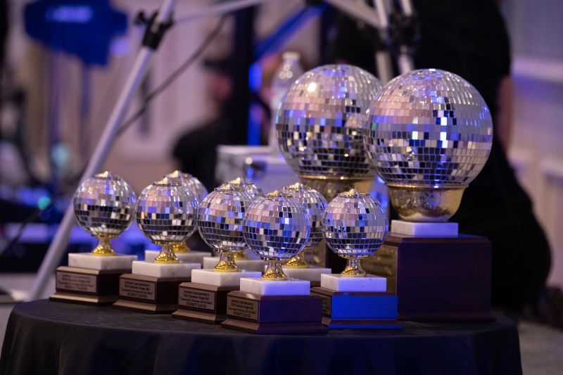 Lowcountry Dancing with the Stars trophies, ready to be awarded to the contestants.