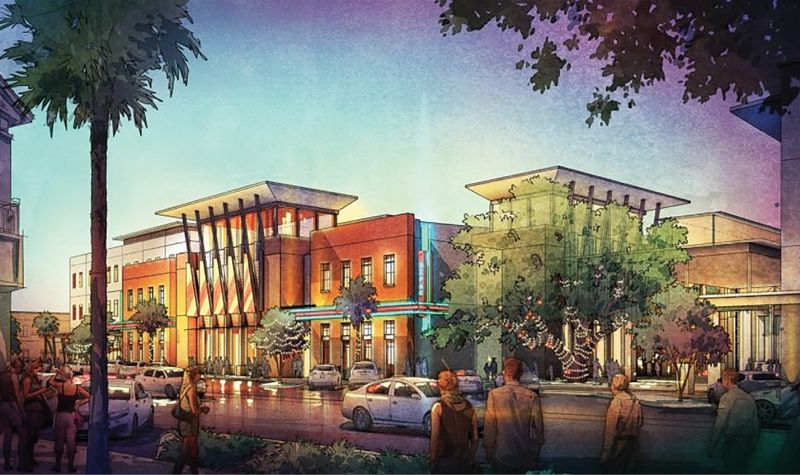 Stage Prep: An artist's rendering of the proposed Daniel Island Performing Arts Center illustrates the ambitious vision for a mid-sized 600-seat theater...