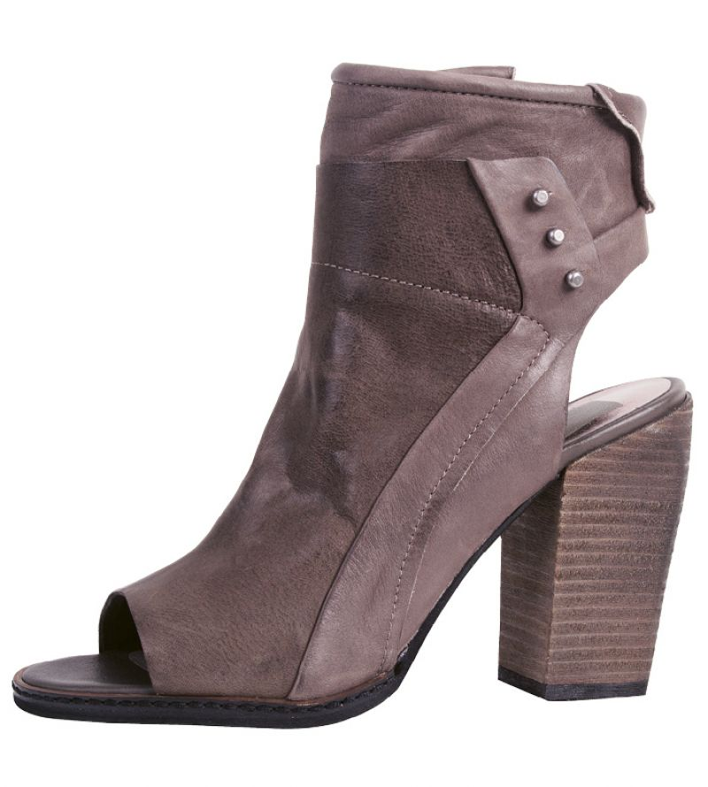 "6. Dolce Vita ""Niki"" leather bootie in ""charcoal,"" $190 at Shoes on King"