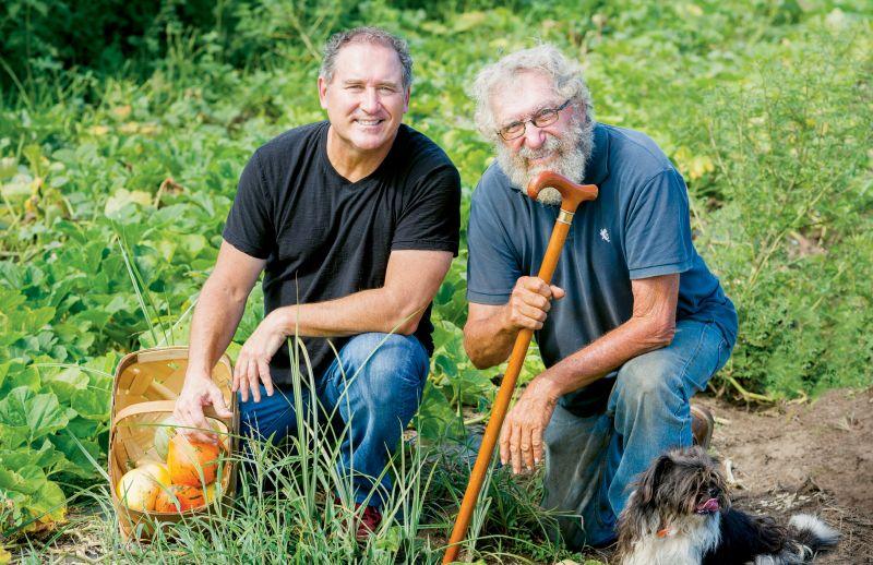 Ken Vedrinski (left) with Sidi Limehouse of Rosebank Farms on John's Island