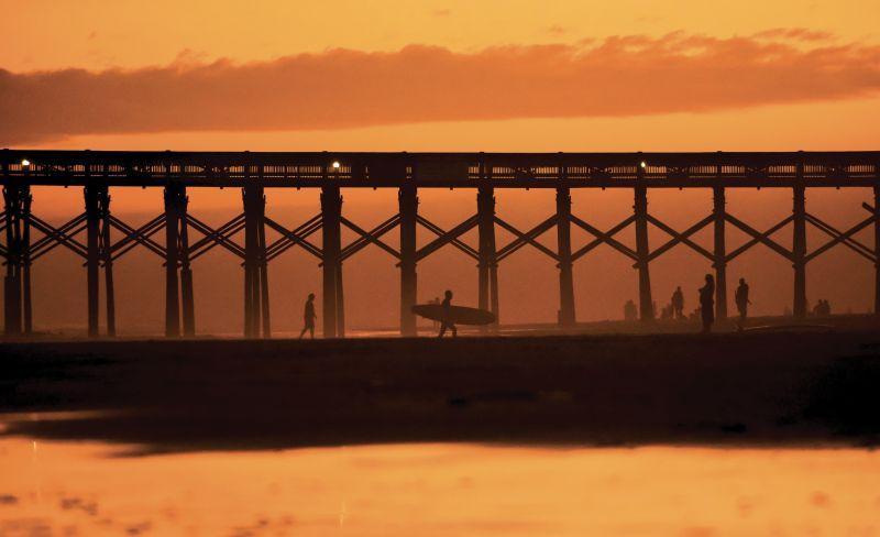 """Golden hour"" near the pier in February 2018"