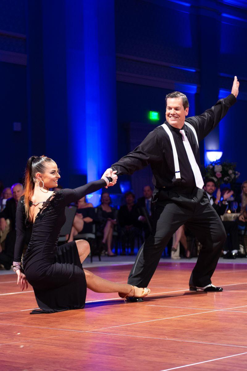 Professional dancer Galina Maiduc and her celebrity partner Eddie Buxton  