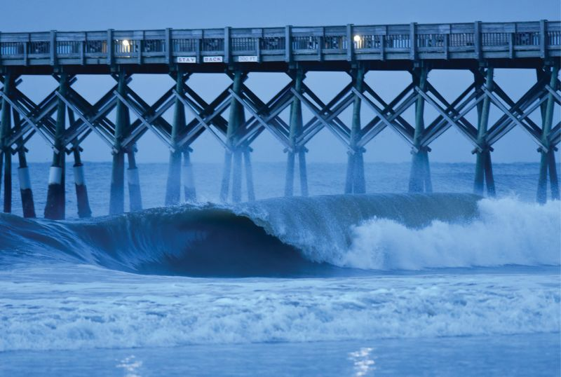 Barrelling morning waves ahead of Hurricane Florence