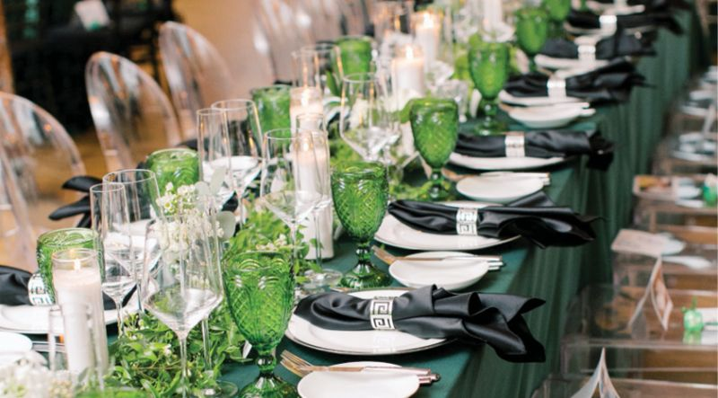 Luke Wilson Events ensured The Cedar Room was decked out for the occasion.