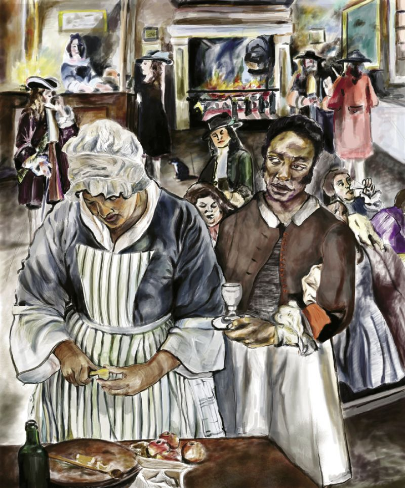 Continuing the Legacy: After Eliza took over her mother Sally Seymour's shop and married free mulatto tailor John Lee, the couple expanded the business, catering for such associations and events as the  Society of the Cincinnati meetings and the Jockey Club Banquet during Race Week, as well as owning and operating four boarding houses.