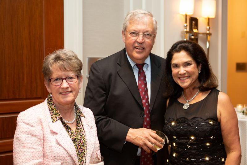 Jenny and Michael Messner, and auction chair Leslie Richardson