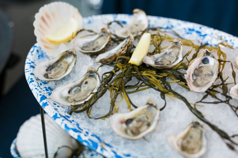 Nico's executive chef Nico Romo served up Toogoodoo oysters on the half shell with fennell strawberry mignonette.