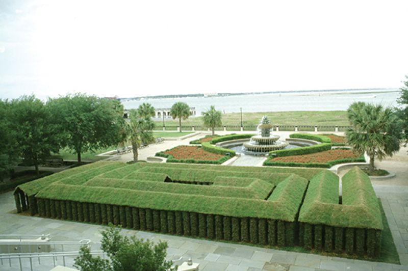 Piccolo Labyrinth at Waterfront Park in 2004; image courtesy of Herb Parker