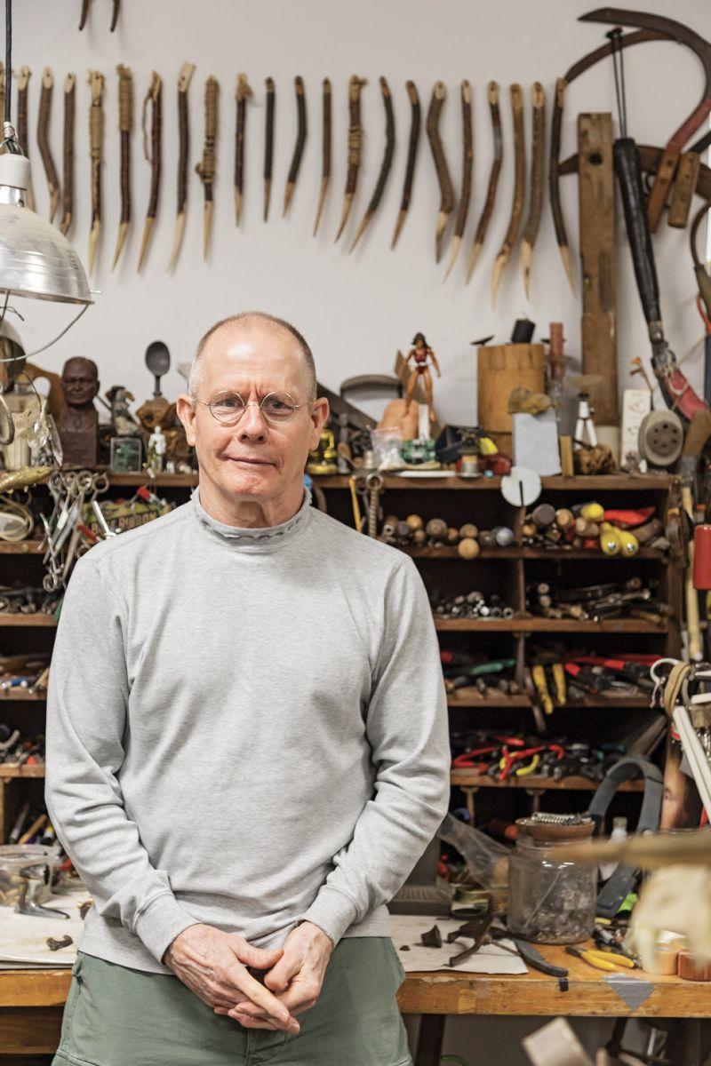 Herb Parker in his studio