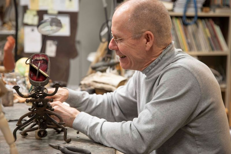 In his College of Charleston-based studio, Parker produces about a dozen sculptures each year.