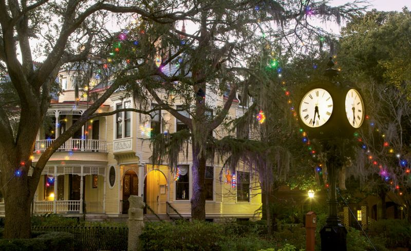 long before charleston sponsored an official christmas tree in marion square the sottile family shared theirs with the city in the yard of their elegant