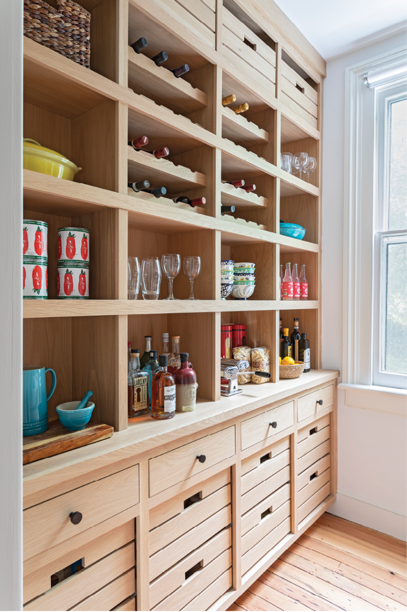 For everything else, the nearby pantry's floor-to-ceiling cabinetry provides ample storage space.