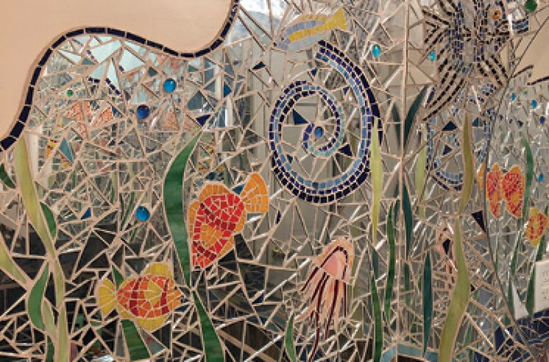 """Original Work: """"Creating large-scale mosaics was really my thing for a long time. They are all over my house."""""""