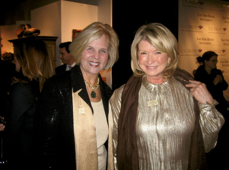 At the New York Winter Antiques Show with Martha Stewart, who is a longtime supporter of the Charleston Antiques Show