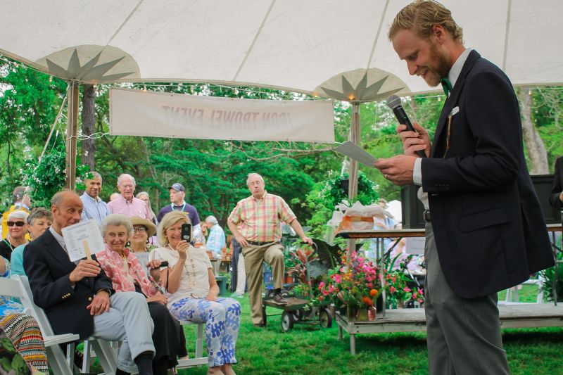 Lucile's grandson, Perry MacLennan, gave a heartfelt speech detailing Lucile's life and love for plants.