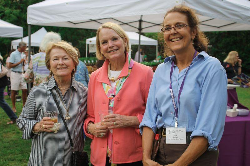 Pat Obstfeld, Susan Barber Susan Barber, and Plantasia co-chair Beth McGinty