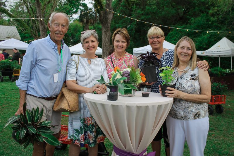 Rolf Kolconay with Garden Club of St. James members Gwen Best, Barbra White, Nancy Wanczowski, and Rebecca Privott