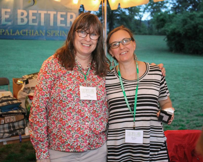 Volunteers Maria Richardson and Heather Powers