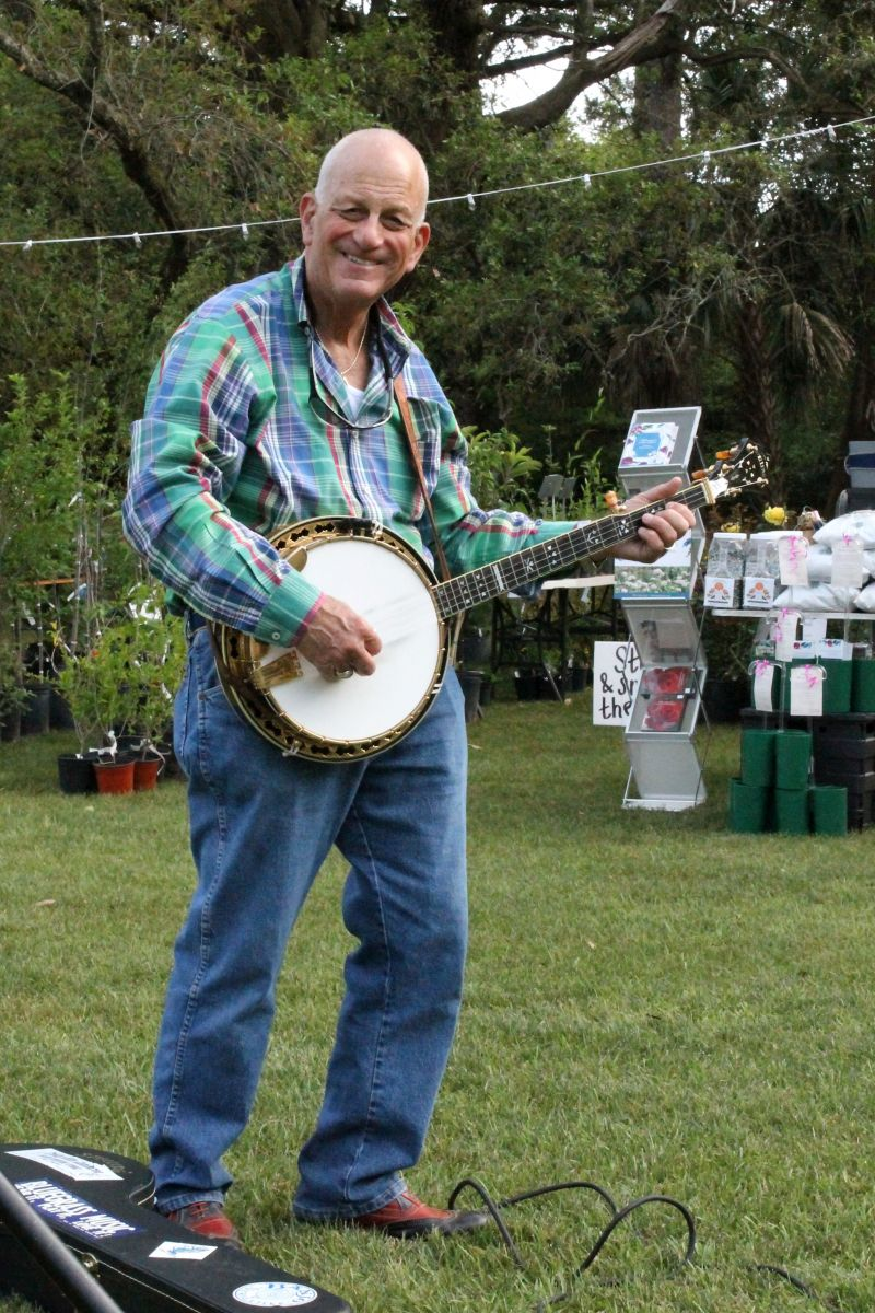 Triangle Bluegrass member John Apicella on the banjo