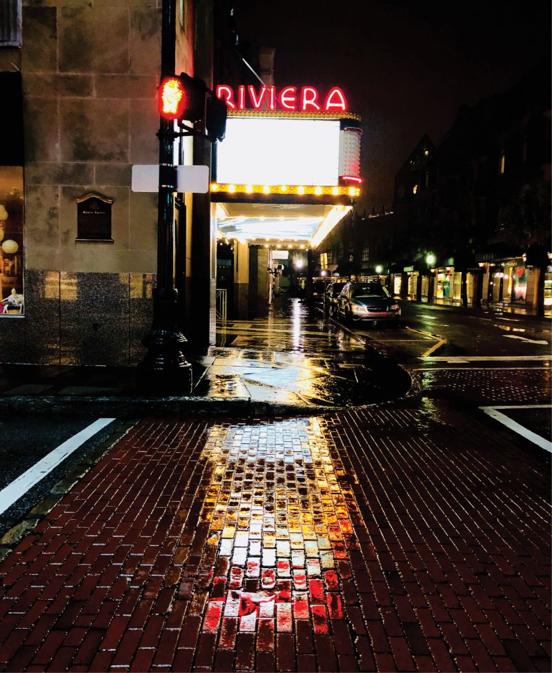 "The Riviera Theater: ""The way that King Street illuminates when it is raining is such a beautiful thing to witness,"" he notes."