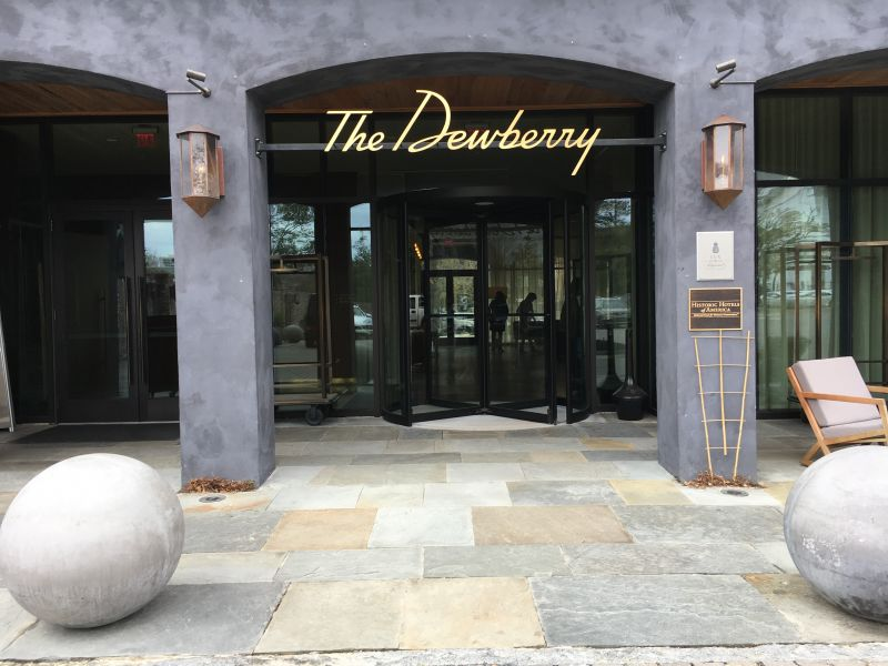 The Dewberry was home base for this two-day shoot downtown.