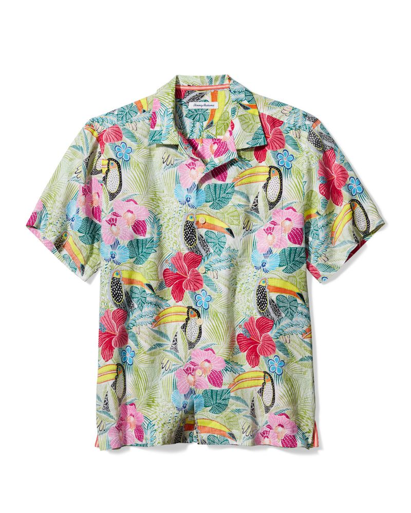 "Tommy Bahama ""If One Can Toucan"" linen camp shirt, $118 at Tommy Bahama"
