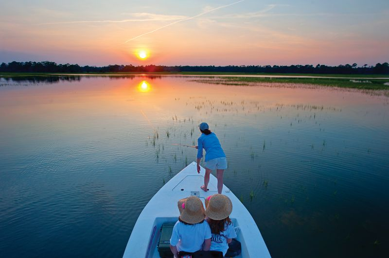 Tailing flats are hard-bottomed grass flats that flood when high tides exceed six feet.