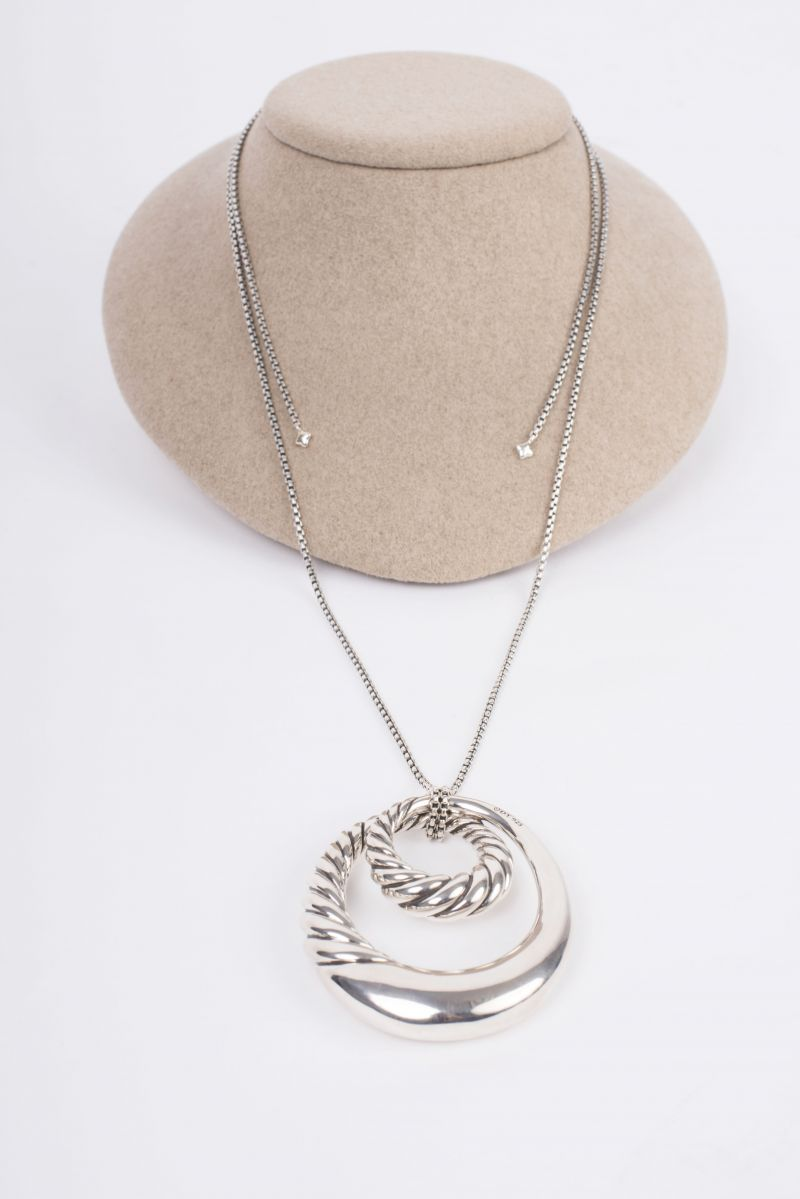 David Yurman Sterling Silver Pure Form pendant necklace, $1,250 at REEDS Jewelers