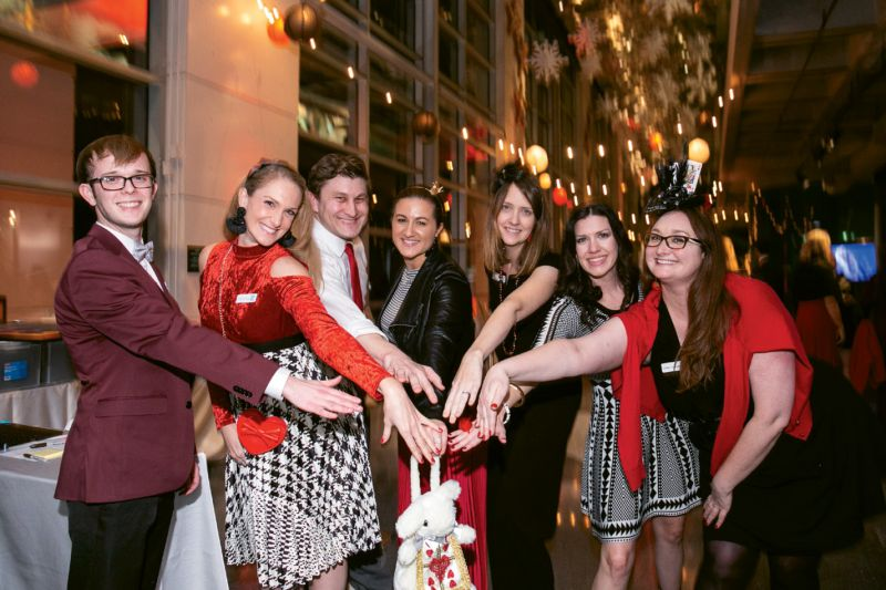 Nick Mercer, Catherine O'Rourke, Chris Nungesser, Stephanie Gabosch, Kristen Beach, Maggie Roudsari, and Brittany St. Sauveur