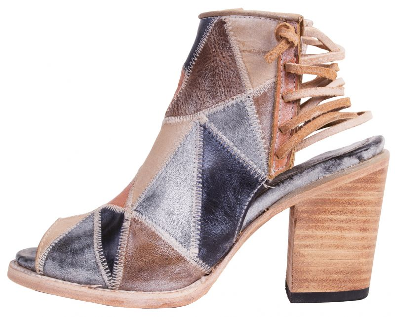 "3. Freebird by Steven ""Bay"" leather booties in ""blue multi,"" $275 at Out of Hand"