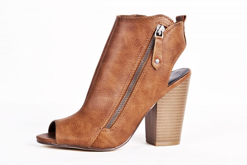 "Indigo Road ""Ismey"" faux leather cut-out bootie, $59 at Belk"