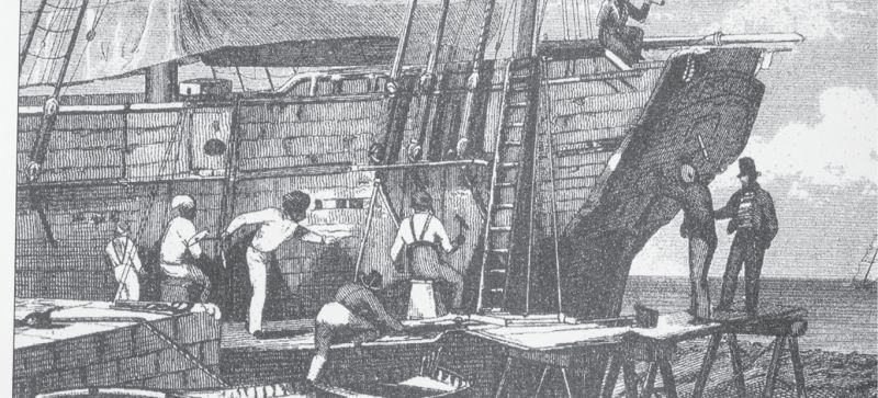 Shipbuilding, of tall-masted sloops began in earnest in the 1700s.