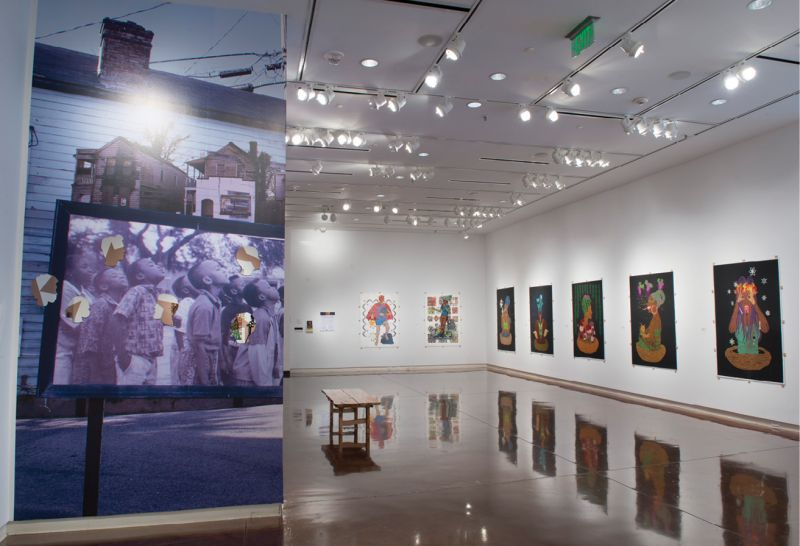 "The 2019 Katrina Andry exhibition, ""Over There and Here is Me and Me,"" explored gentrification."