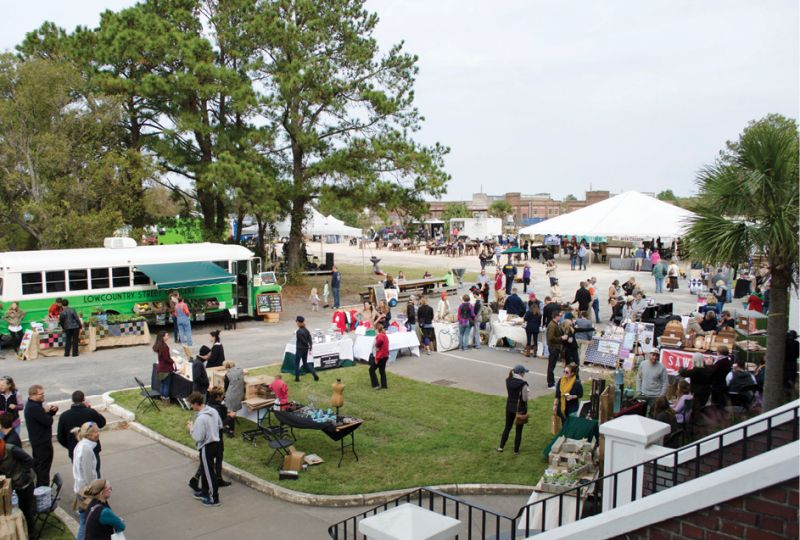 Despite chilly temps, people came out in droves to the third annual  Lowcountry Local First block party.