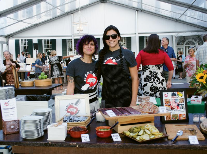 Julia Heckman and Kendall Grinstead of John's Island's Meathouse Butcher Shop