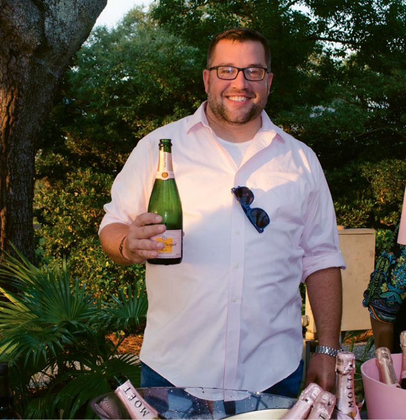 Wine rep Jason Guerra poured Veuve Clicquot.