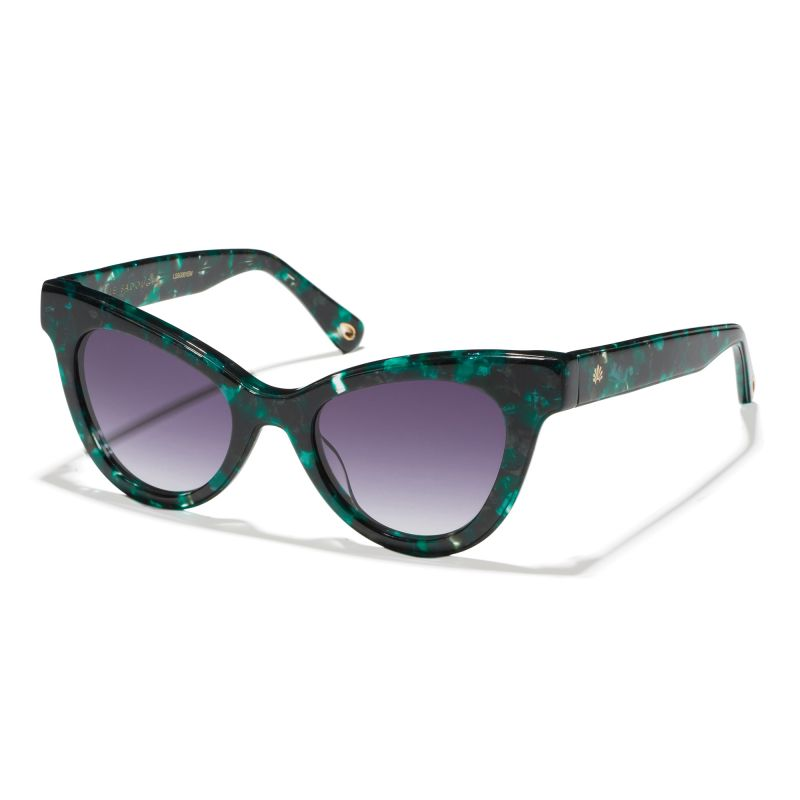 "Lele Sadoughi ""Uptown Cat-Eye"" sunglasses in ""Emerald,"" $165 at White's Mercantile"