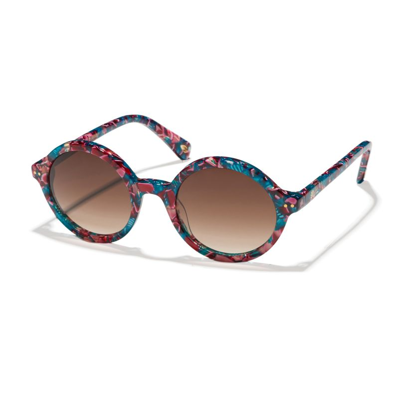 "Lele Sadoughi ""East Village Round"" sunglasses in ""Flamingo Pink,"" $165 at White's Mercantile"