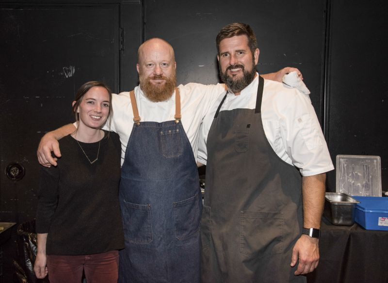 Poogan's Porch's Samantha Duncan, Adam Close, and Chef Daniel Doyle