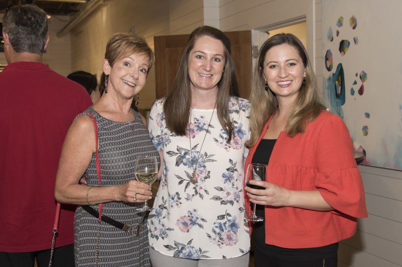 Charleston magazine Marketing Manager Betsey Geier with club members Gerri Greenwood and Lauren Kuhn