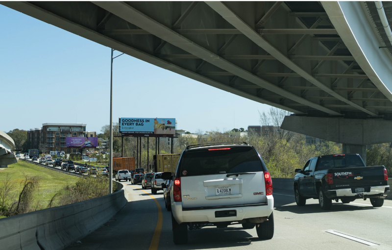 Rush hour on the southbound Crosstown and Ravenel Bridge northbound into Mount Pleasant