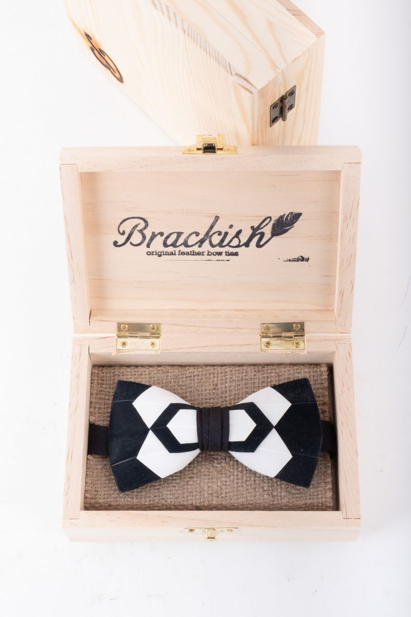"Brackish ""Whitehall"" bow tie, $225 at Grady Ervin & Co."