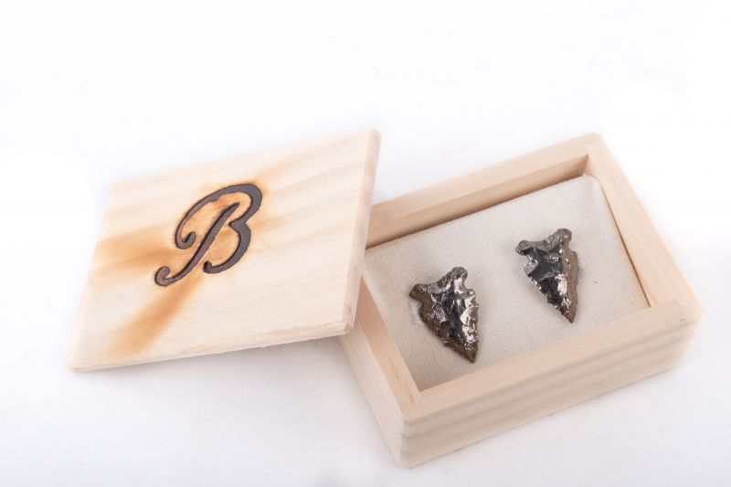 Brackish polished arrowhead cufflinks, $310 at Gwynn's of Mount Pleasant