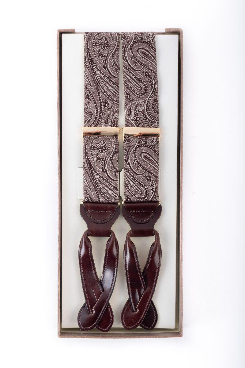 "Trafalgar ""Brentwood"" paisley suspenders, $85 at M. Dumas & Sons"