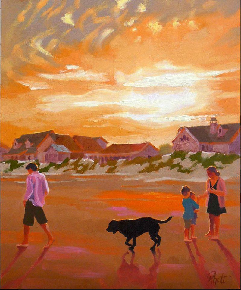 Sundown, Folly (oil on canvas, 14 X 11 inches, 2018)