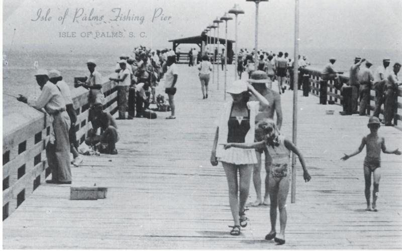 The fishing pier, circa 1940