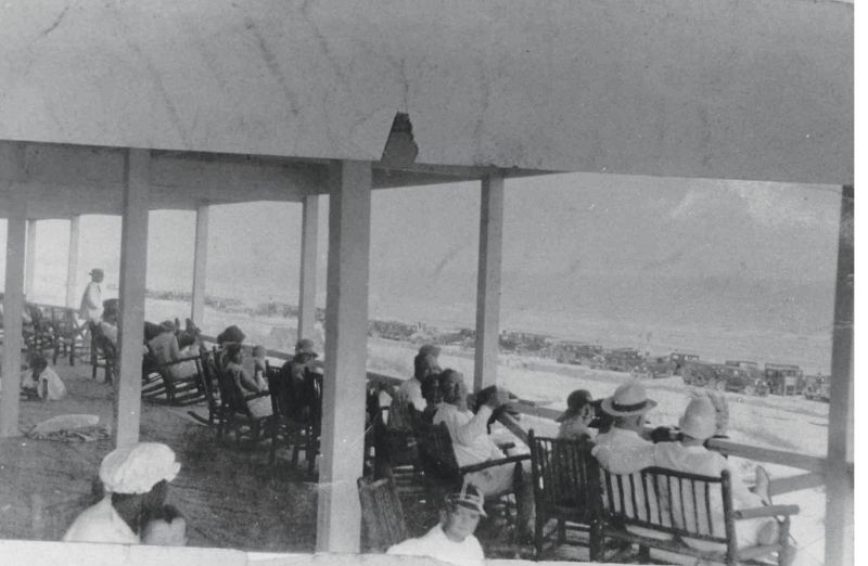 Kicking back at the Pavilion, circa 1930
