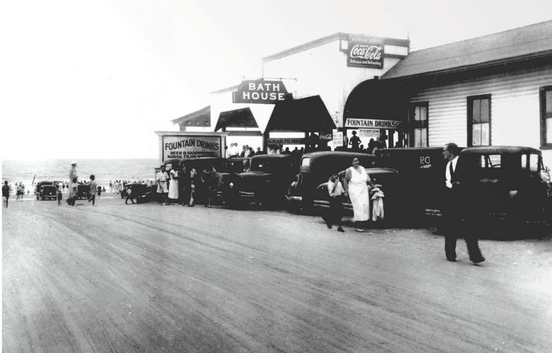 """Even in the 1930s, the end of Center Street at Folly epitomized fun in the sun, a carefree place dubbed the """"Edge of America."""""""